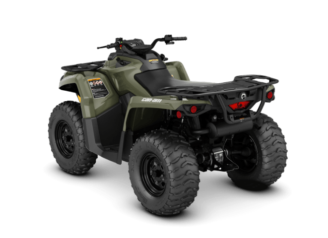 Квадроцикл OUTLANDER 570 PRO BRP Can-Am 2018 вид сзади